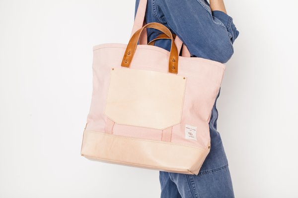 Immodest Cotton east west bucket bag