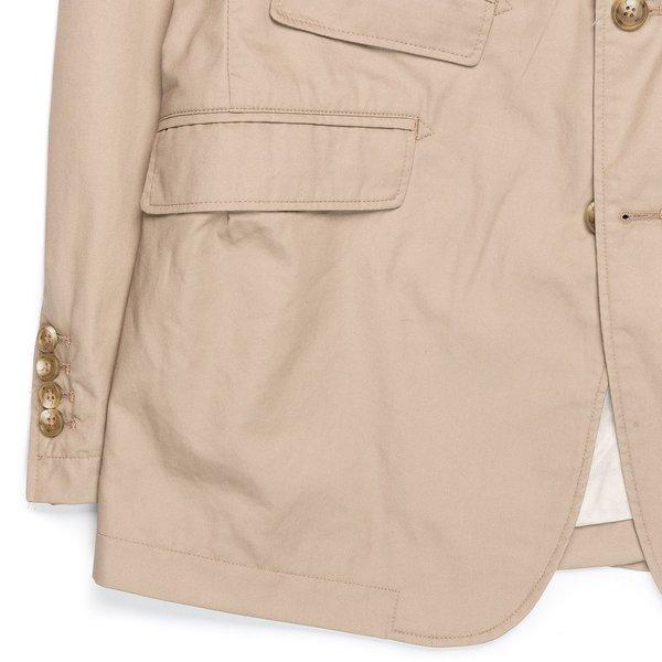Engineered Garments Andover Jacket - Khaki High Count Twill