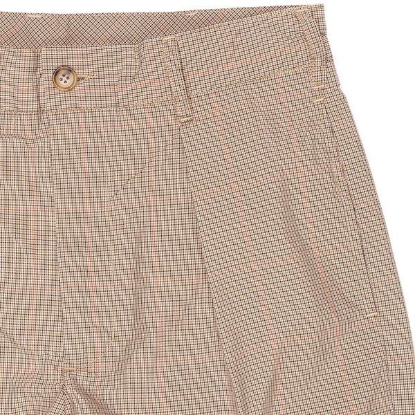 Engineered Garments Carlyle Pant - Khaki Nyco Mini Tattersall