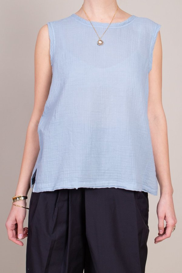 Raquel Allegra Muscle Tee - Dusty Blue