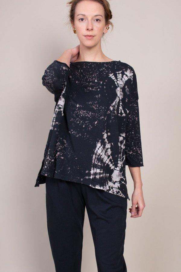 Raquel Allegra New Cocoon Top - Black Constellation