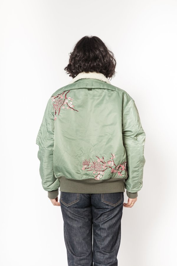 La Bete bomber with tiger - green
