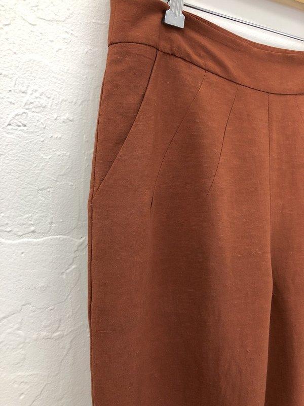 Eve Gravel Aztec Pant - Rust