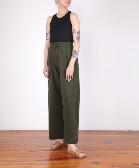 Kowtow Wide Leg Pant - DARK GREEN