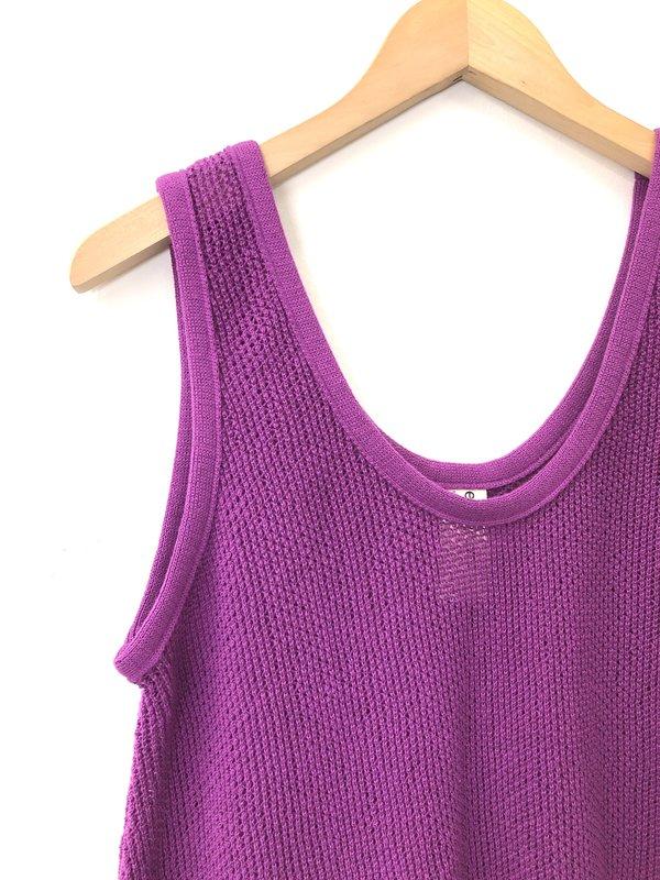 Eve Gravel Iris Knit Tank - Violet
