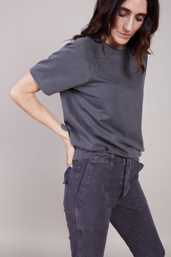 Save khaki United Short Sleeve Fleece Beach Sweatshirt - Black