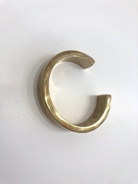 Matthew Ready Objects heavy solid rectangle cast cuff - bronze