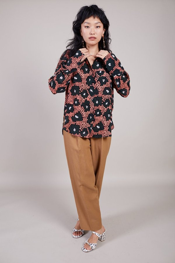 Christian Wijnants Tamir Shirt - Coral Daisy