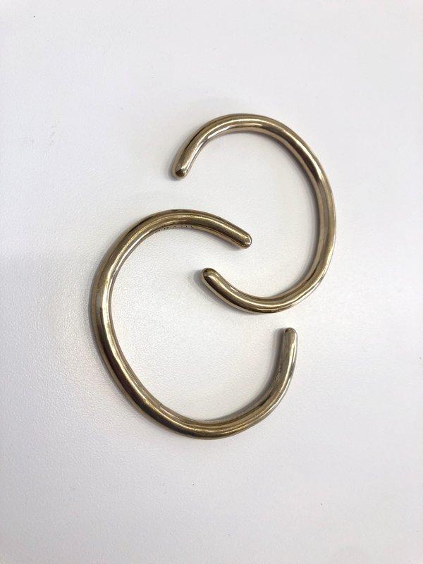 Matthew Ready Objects medium solid round hand sculpted cuff - bronze