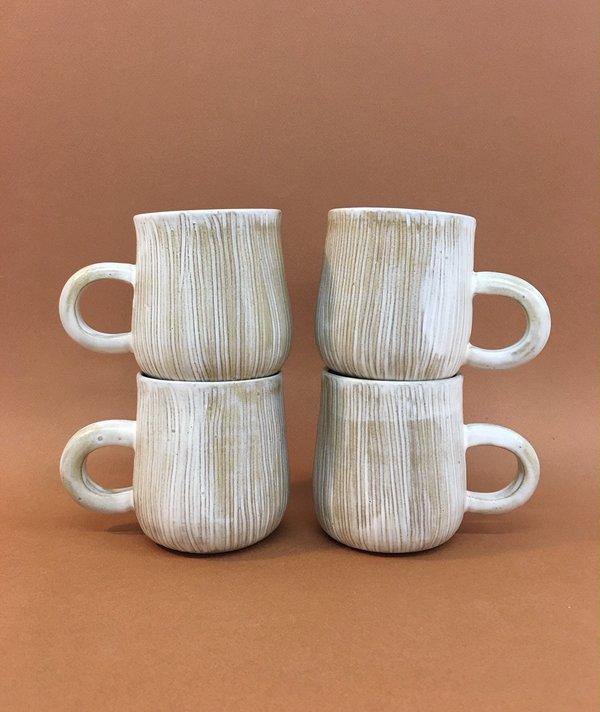 Meg Hubert textured mugs