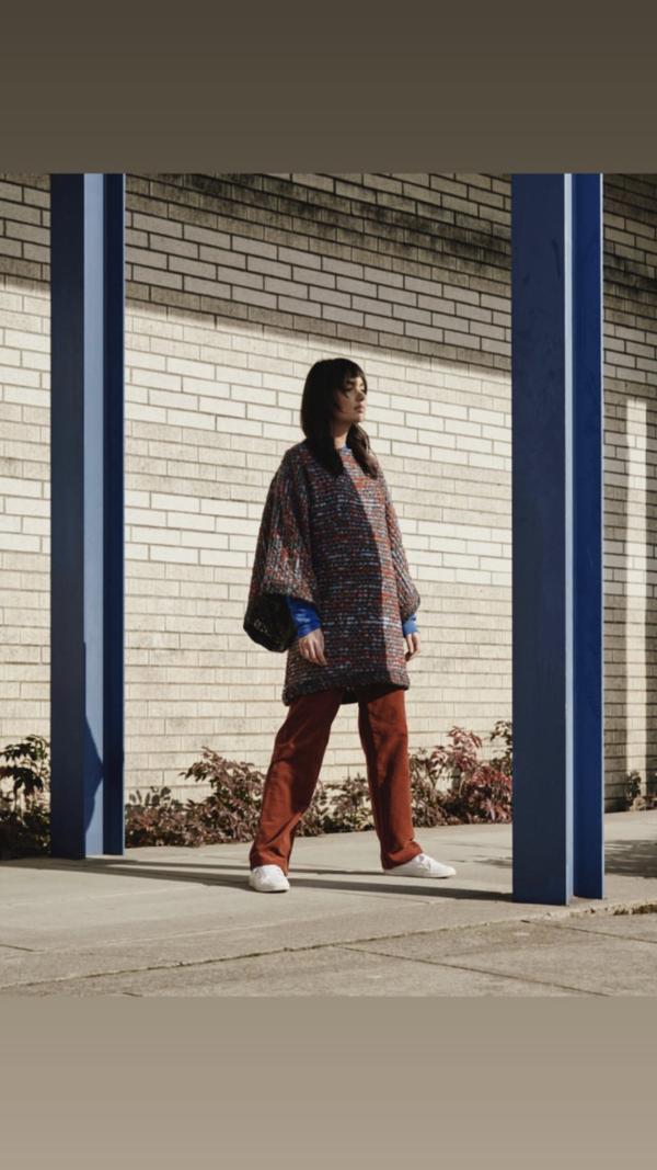 Nahanni Arntzen Devaki wool sweater poncho