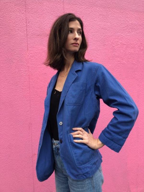 Nikki Fenix Calvin Klein denim blazer