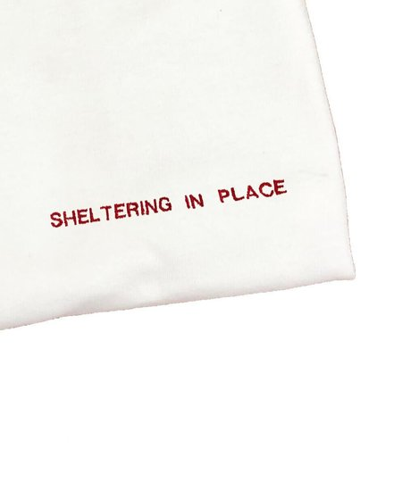 House of 950 embroidery sheltering in place tee shirt