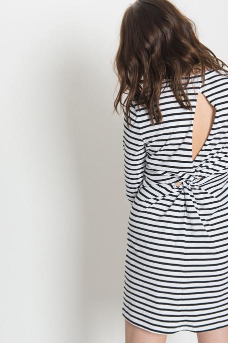 A.L.C. - Fay Dress in Black Stripe