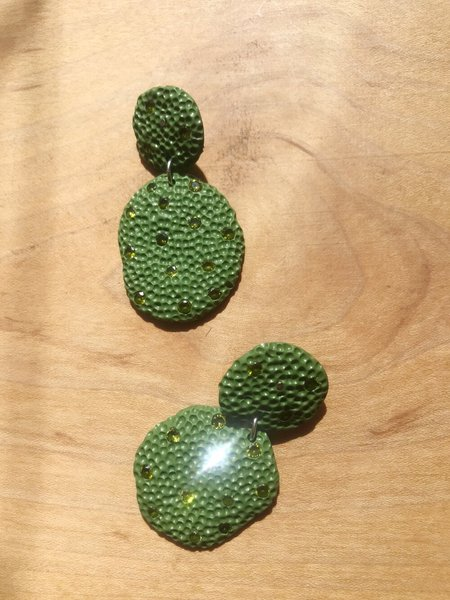 Surface Handmade Bejeweled Texture Earring
