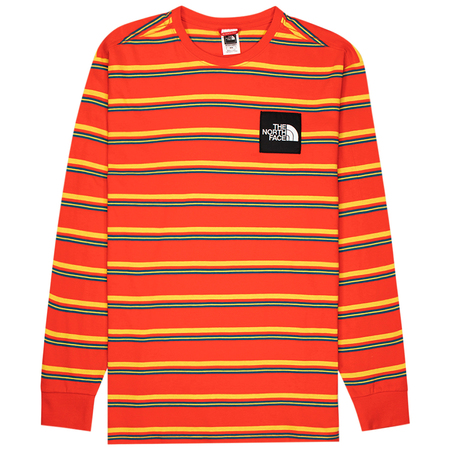 The North Face boruda tee - Fiery Red Stripe