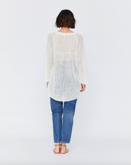 Esby Lucy Linen Sweater - White