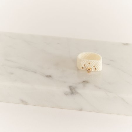 Iwona Ludyga Designx Milk & Honey Skully Ring - 14K Gold Fill