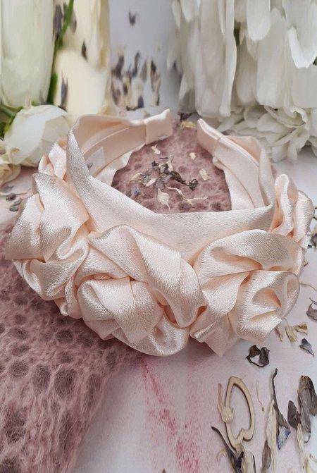 Alice & Blair Juliet Silk Floral Headband - Pink