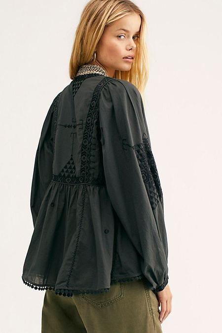 Free People Jasmine Jacket - Black