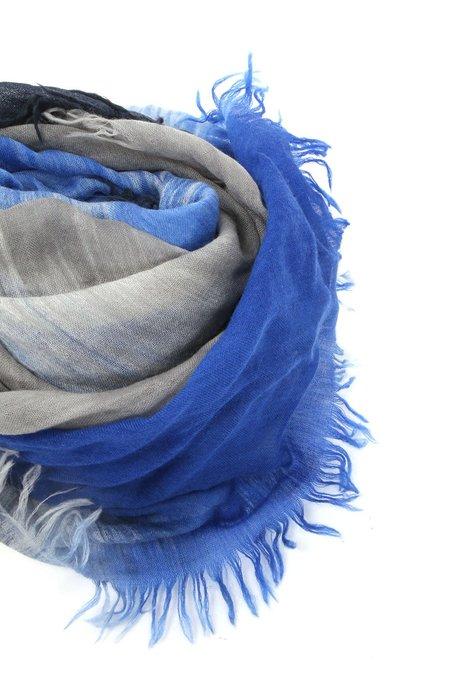 Alonpi Cashmere Jacod Printed Stole Scarf - blue