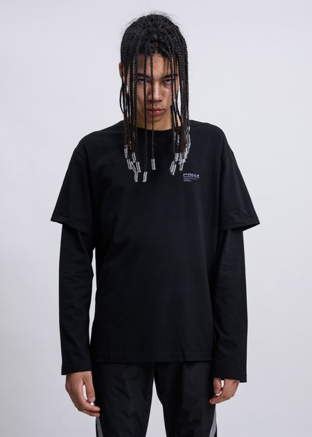 C2H4 Double Layered Long Sleeves - Black