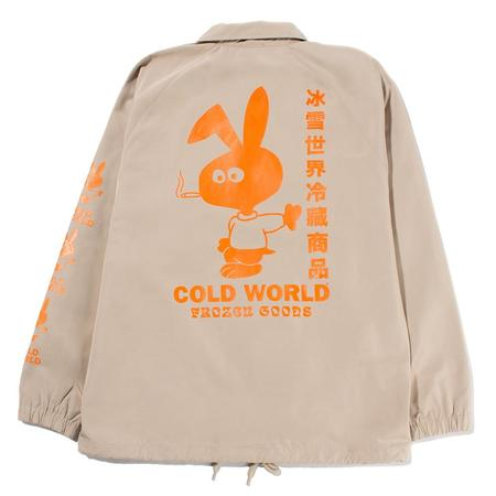 Cold World Frozen Goods Cold Bunny Coach Jacket - Khaki