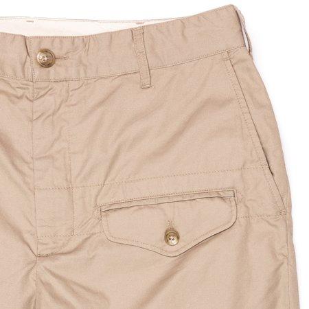Engineered Garments Ghurka Short - Khaki High Count Twill