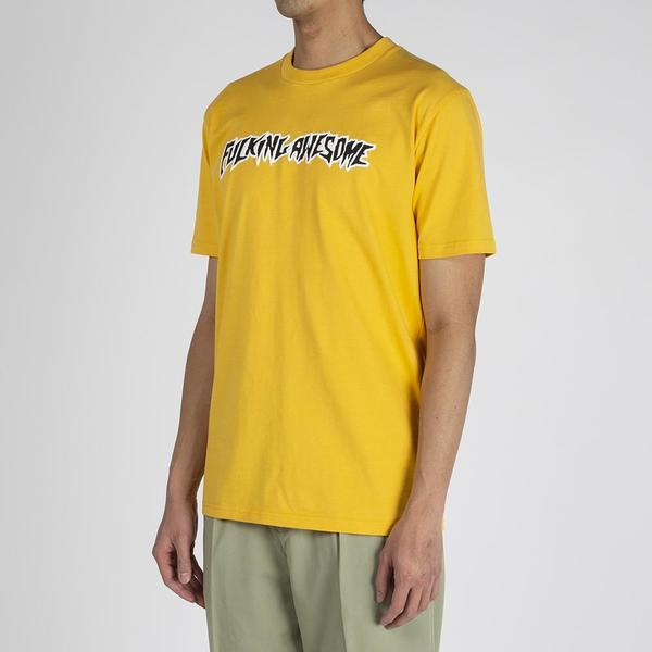Fucking Awesome Puff Outline Logo T-shirt - Gold