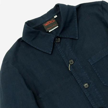 Vetra Workwear Chore Jacket - Lightweight Herringbone Navy