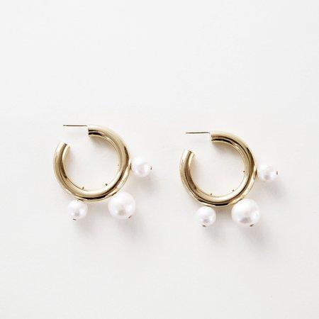 Looma Pearl Drop Earrings - 14K Gold