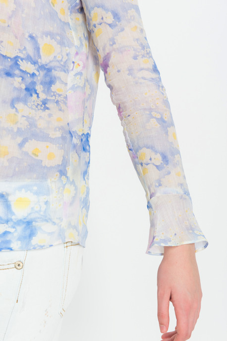 Cacharel - Floral Ramie Blouse