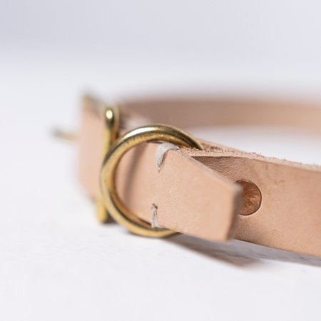 Billy Wolf Leather Collar - Natural