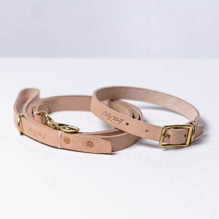 Billy Wolf Leather Leash - Natural