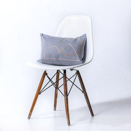 Plinth Home Small Camelback Cushion - Grey