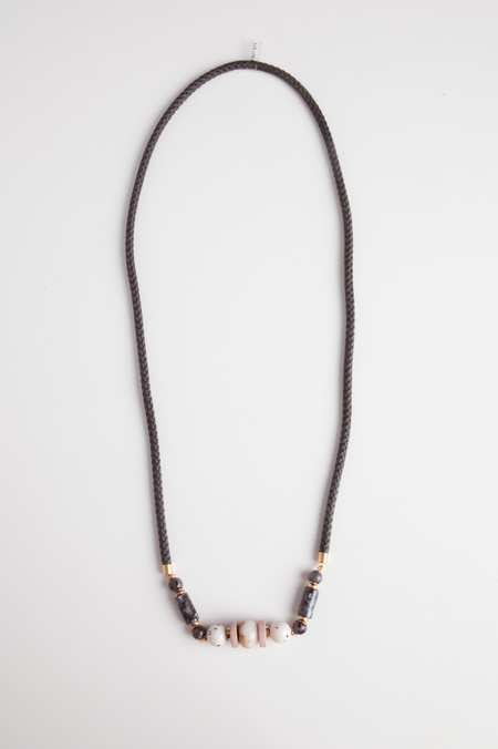 The Vamoose Braided Rope and Stone Necklace