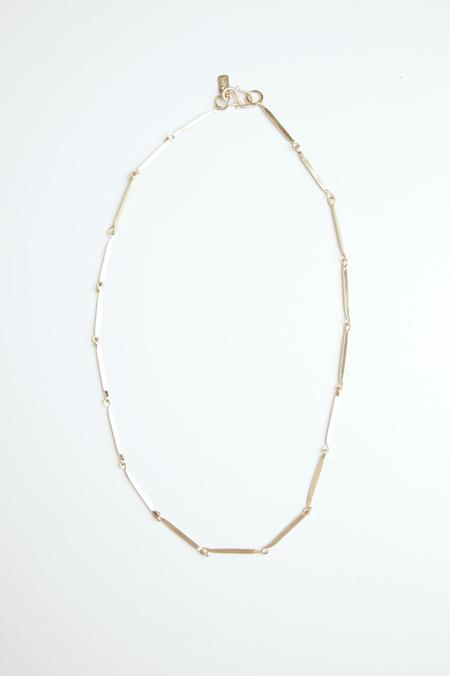 Satomi Studio Flat Link Necklace - Brass