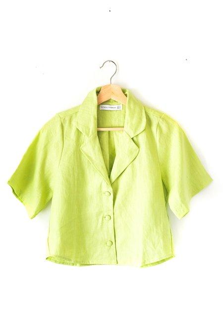 Faithfull The Brand Chaumont Shirt - Avocado Green