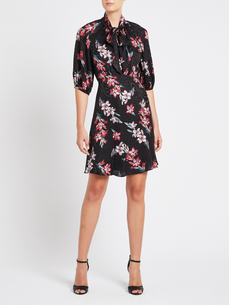 Rebecca Taylor Noha Silk Dress - Black