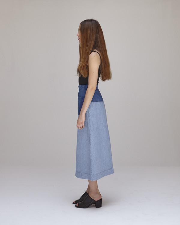 Caron Callahan Georgia Skirt - Blue Combo