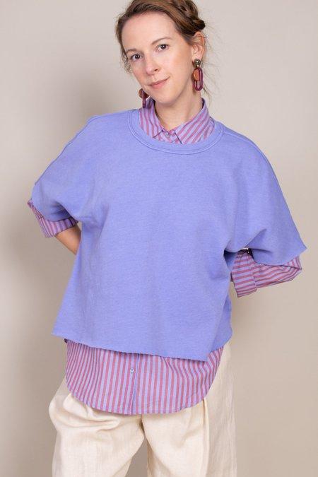 Xirena Owen Short Sleeve Sweatshirt - Sea