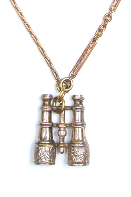Lulu Frost - One Point Vintage Binocular Charm Necklace