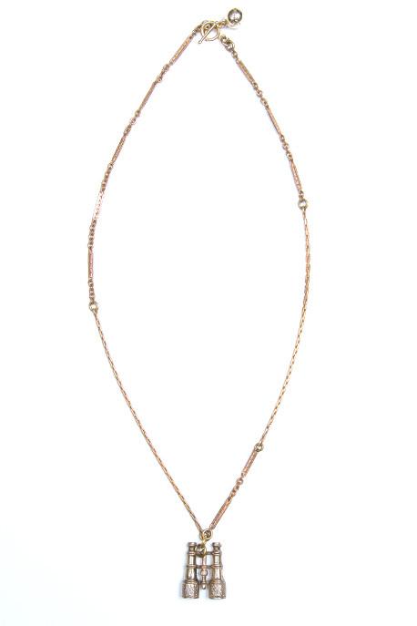 Lulu Frost - One Point Vintage Binocular Charm Necklace