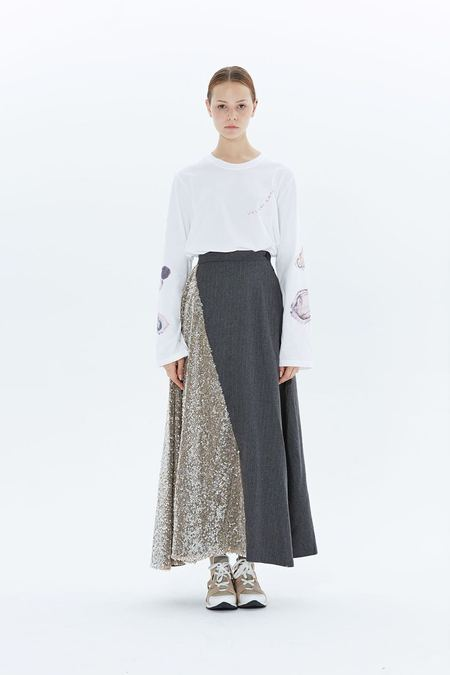 Walk of Shame ASSIMETRIC SKIRT - gray