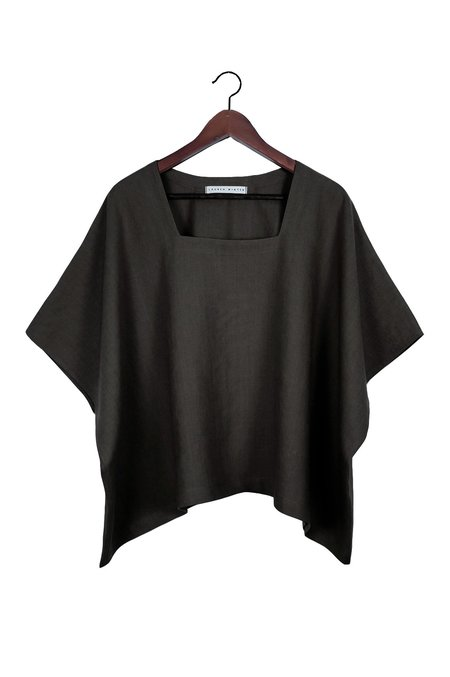 Lauren Winter Square Tee - Black Linen
