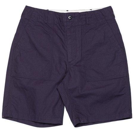 Engineered Garments Cotton Ripstop Fatigue Short - Dark Navy