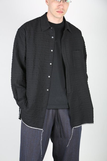 s.k. manor hill LANGSTON SHIRT - BLACK