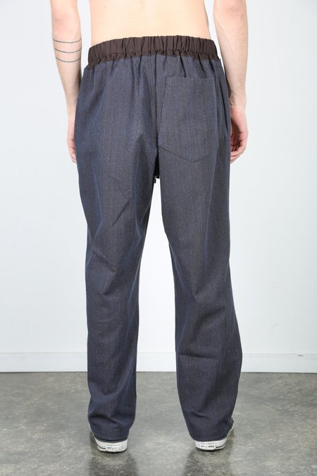 s.k. manor hill NEST PANT - Brown / Blue