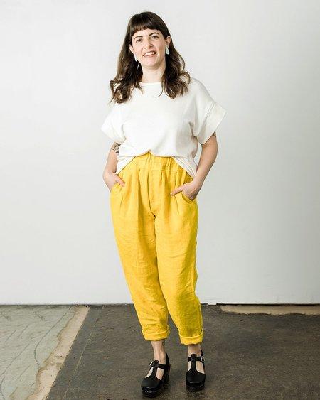 Black Crane Carpenter Pants - Yellow