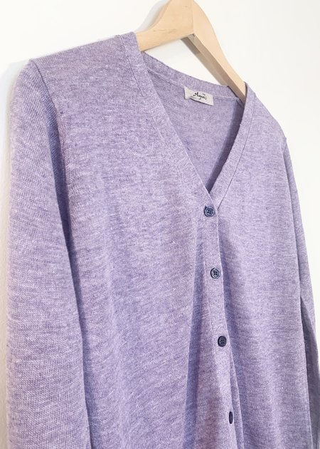 Ichi Antiquites Knit Linen Cardigan